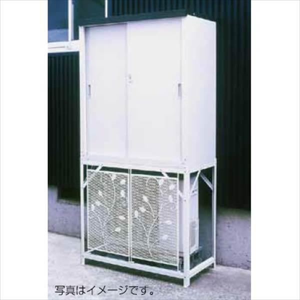 グリーンライフ エアコン室外機カバー:AC-78MM+収納庫:HS-92セット AC-78MM+HS-92