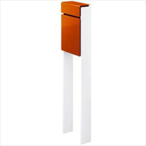 YKKAP フィッテ (上入れ前だし) DPB-1 『ポスト+柱セット』 ポスト:サンオレンジ/柱:ハイホワイト
