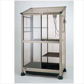 ピカコーポレーション ランハウス FAL-1811BL 加温加湿器、換気扇、ヒータサーモ&換気サーモ、日よけカーテン、保温カバー付 『アルミ製/組立品』 ライトブロンズ