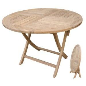ジャービス商事 折り畳み丸テーブル 『ガーデンテーブル』 無塗装