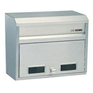 ハッピー金属 ステンレスポスト ファミール681 (壁面埋込&ポール取付タイプ) 『郵便ポスト』 ステンレスヘアーライン