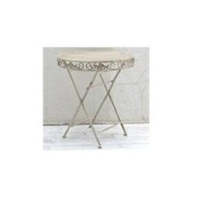 【欠品中 次回入荷未定】Sスタイル ブランティーク アイアンテーブル70 SPL-6628 『ガーデンテーブル』