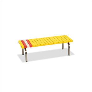 テラモト ホームベンチ 脚部紛体塗装 1200 #BC-302-012