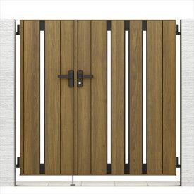 リクシル 開き門扉AA TS1型 柱仕様 ラッピング形材柱 05・07-14 親子開き