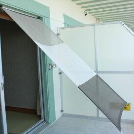 イチオリシェード アパートメントタイプ スリーボーダー 『屋外用日よけ 透過性と通気性へのこだわり 日本製 シェード マンション用』 501729 マーブルグレー