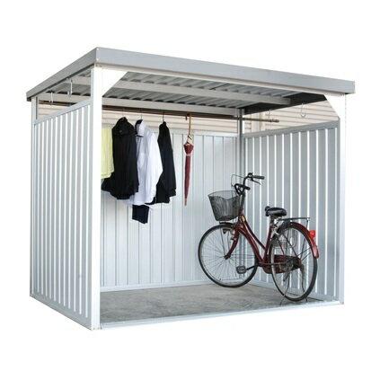配送条件限定商品 ダイマツ 多目的万能物置 DM-10L 壁パネルロングタイプ 土台寸法 間口2347×奥行1615 『自転車屋根 横雨に強いスチールタイプ』