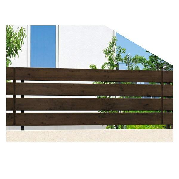 腐らない木調アルミフェンス 三協アルミ フレイナ Y3型 本体 フリー支柱タイプ 2012 木調色