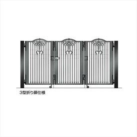 四国化成 ビビオ門扉 3型 柱仕様 3枚折り扉 0812 ブラックつや消し