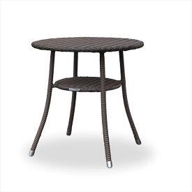 かじ新 RAUCORD AMALFI ダイニングテーブル 700φ 『ガーデンテーブル ガーデンファニチャー』 ダークブラウン