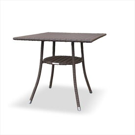 かじ新 RAUCORD AMALFI ダイニングテーブル 700×700 『ガーデンテーブル ガーデンファニチャー』 ダークブラウン