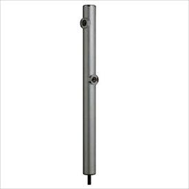 前澤化成工業 2口丸型アルミ水洗柱 『下取出タイプ』 HI-16WR×960 シルバー