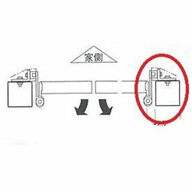 三協アルミ オプション 外開き用金具(両開き・親子開き用) *本体と同時購入