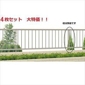 三協アルミ 形材フェンス マイエリア2 本体 H600 JB1F2006 #4枚セット 『三協立山アルミ アルミフェンス 柵 縦格子 高さ60cm』