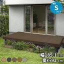 YKKAP リウッドデッキ200 Sタイプ 高さ550 1間×3尺 『ウッドデッキ キット 人工木 腐りにくい人工木デッキ』