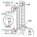 四国化成 クレディフェンス6型・6S型共有 60:横さんキャップ サイズ共通 60EC 『アルミフェンス 柵』