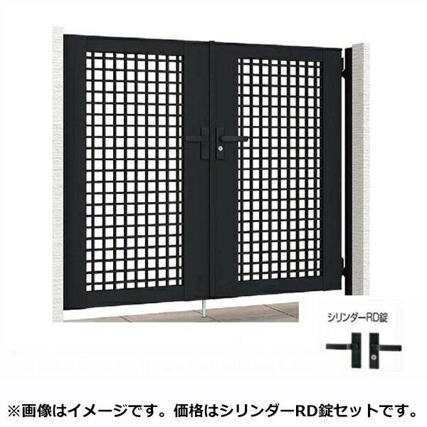 リクシル TOEX ライシス門扉7型 柱仕様 08-10 両開き 『リクシル』