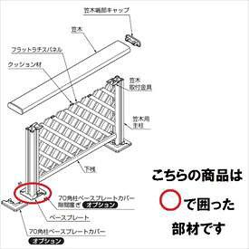リクシル 樹ら楽ステージ デッキフェンス 柱部材 ベース仕様 ベースプレート(主柱用) 大引固定用 『リクシル』 『ウッドデッキ 人工木 フェンス』