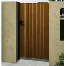 YKKAP ルシアス門扉BM01型 リブモール(鋲なし) 08-14 片開き UME-BM01 木調カラー