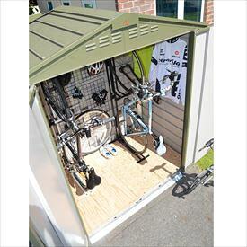 自転車置き場 ガーデナップ 自転車倉庫 TM6サイクルプラス TM6CPSOG 『家庭用 サイクルポート 物置型 おしゃれ』 オリーブグリーン