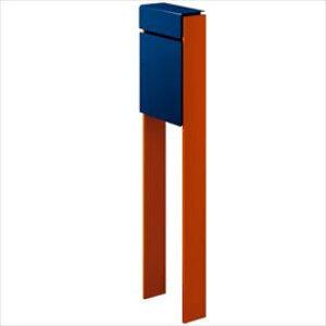 YKKAP フィッテ (上入れ前だし) DPB-1 『ポスト+柱セット』 ポスト:プレシャスブルー/柱:サンオレンジ