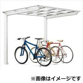 リクシル TOEX ネスカF ミニ 基本 18-22型 標準柱(H19) ポリカーボネート屋根 『リクシル』 『自転車置場 サイクルポート 自転車屋根』