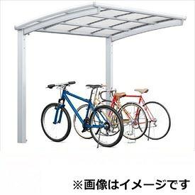 サイクルポート リクシル TOEX フーゴR ミニ 基本 18-22型 ロング柱(H25) 熱線吸収ポリカ板 『リクシル』 『サビに強いアルミ製 家庭用 自転車置き場 屋根』
