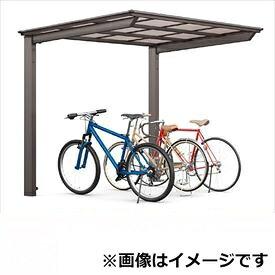 サイクルポート リクシル TOEX フーゴF ミニ 基本 18-36型 標準柱(H19) 熱線吸収ポリカ板 『リクシル』 『サビに強いアルミ製 家庭用 自転車置き場 屋根』 アルミ形材色