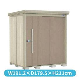 タクボ物置 ND/ストックマン 側面棚 ND-1815Y 一般型 標準屋根 『追加金額で工事も可能』 『屋外用中型・大型物置』 カーボンブラウン