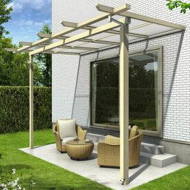 YKK ap サザンテラス パーゴラタイプ 関東間 600N/m2 3.5間×9尺 (2連結) 熱線遮断ポリカ屋根