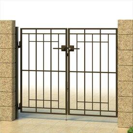 三協アルミ キャスタイル2型 アルミ鋳物門扉 0712 両開きセット 門柱タイプ 門柱タイプ
