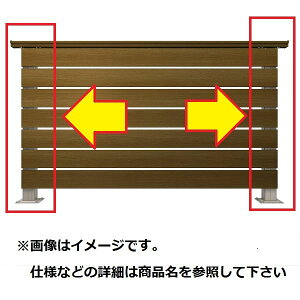 YKKAP ルシアスデッキフェンスA01型 間仕切柱・部品 ベースプレート施工 端柱セット(笠木連結金具、ベースプレート付) T100 2本入り ウッドデッキ フェンス パネル 人工木 樹脂 diy