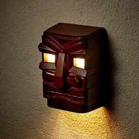 美濃クラフト 濃い顔シリーズ Hawaii表札 HWL-1 オプション照明