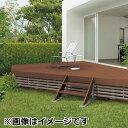 キロスタイルデッキ 木質樹脂タイプ 2間×10尺(3030) 幕板A 標準束柱 コーナーキャップ仕様 『ウッドデッキ …