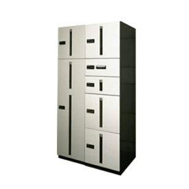 田島メタルワーク マルチボックス MULTIBOX GX-DW ユニット組み合わせセット1 20世帯向/2列7BOX スチール 『集合住宅用宅配ボックス マンション用』