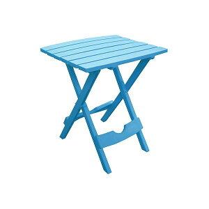 『納期要問合せ』 折り畳みサイドテーブル アメリカ製 プラスチック素材 #8500-21-3731 プールブルー