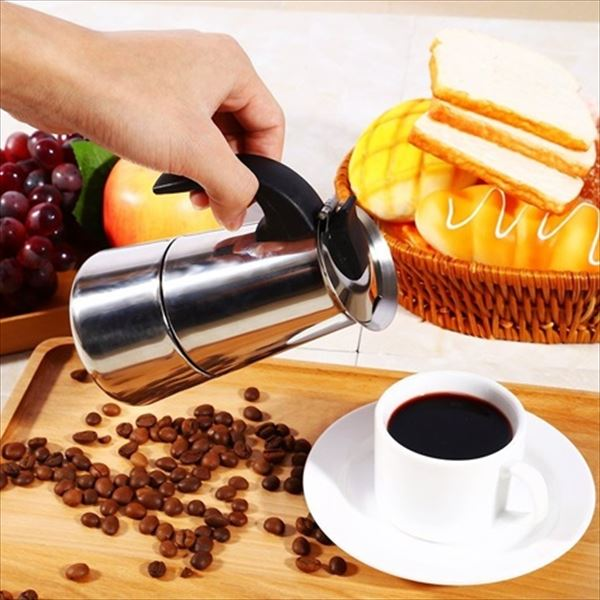 輸入品エスプレッソメーカー オルベゴーゾ カフェテラ アセロ イノックス 4カップ用 KFI 460 『Orbegozo Cafetera Acero Inox』『直火OK』