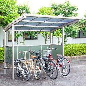 サイクルポート 大仙(ダイセン) 自転車スペース 積雪20cm仕様 間口24 側面・背面1段パネル BS-2401 4台用 『アルミ製 家庭用 駐輪 自転車置き場 屋根』