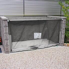 ダイケン クリーンストッカー(ネットタイプ) CKA-2012型 『ゴミ袋(45L)集積目安 53袋、世帯数目安 26世帯』 『ゴミ収集庫』『ダストボックス ゴミステーション 屋外』 黄色