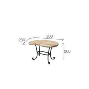 ジャービス商事 ミニマンゴーテーブル 『ガーデンテーブル』 無塗装
