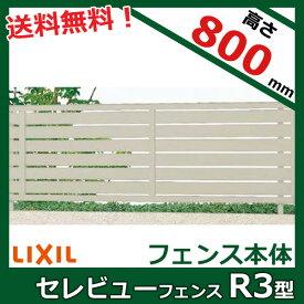 リクシル 新日軽 セレビューフェンスR3型 本体 高さ H=800用 (太横パネル) 『アルミフェンス 柵』