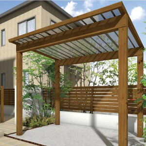 サイクルポート タカショー スノースタイル ミニ ポリカ屋根使用(クリアマット) ロング柱(H25) 2990×2498  『サビに強いアルミ製 家庭用 おしゃれ 自転車置場 屋根』