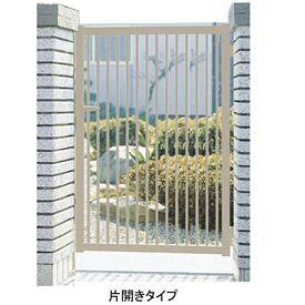 三協アルミ 形材門扉末広2型 0610 片開き門柱タイプ 『キロ特別企画!鍵付き錠に無料で変更可能です』