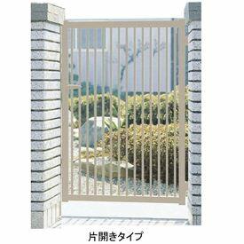 三協アルミ 形材門扉末広2型 0910 片開き門柱タイプ 『キロ特別企画!鍵付き錠に無料で変更可能です』