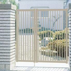 三協アルミ 形材門扉末広2型 04-0810 親子開き門柱タイプ 『キロ特別企画!鍵付き錠に無料で変更可能です』
