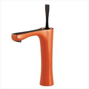 カクダイ 水栓金具 神楽 シングルレバー混合栓(ミドル・オレンジ) 183-233GN-YR