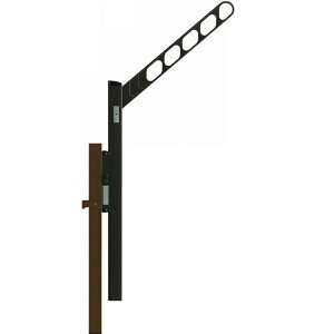 YKKAP ルシアスバルコニー オプション 収納式物干しセット 外壁同仕上げ以外 捨て柱タイプ 1本入り AKM-P-1 『後付バルコニー 洗濯物干し場 リフォーム向け アルミ製』