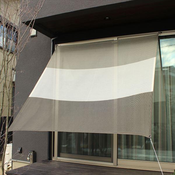 イチオリシェード 3ボーダー 『屋外用日よけ 透過性と通気性へのこだわり 日本製 シェード』 マーブルグレー