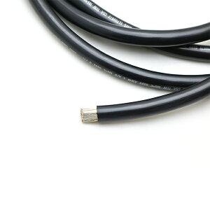バッテリーケーブル シングル ブラック 4AWG 22Sq 1m単位 切り売り 763646-1 【あす楽】