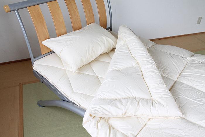 【日本製】オーガニックコットン掛け布団ジュニア用 中綿にオーガニックコットン使用