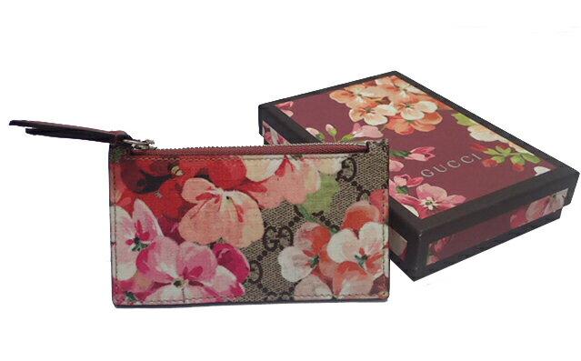 GUCCI グッチ GGブルームス コインケース カードケース レディース 花柄 ボルドー レッド ピンク 430275
